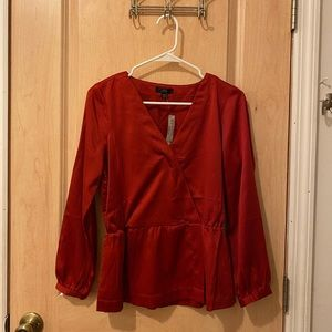 NWT J. Crew Silk Red Blouse